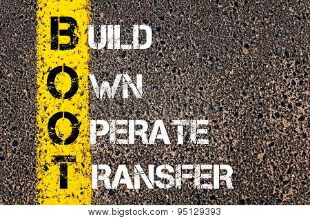 Business Acronym Boot As Build Own Operate Transfer