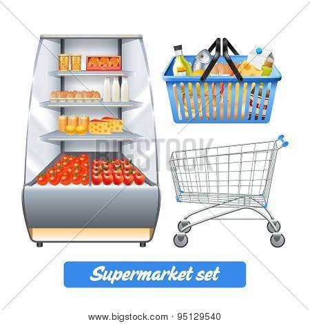 Supermarket Realistic Set