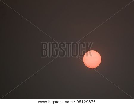 Apocalyptic Sun In A Dismally Smoky Gray Sky 2