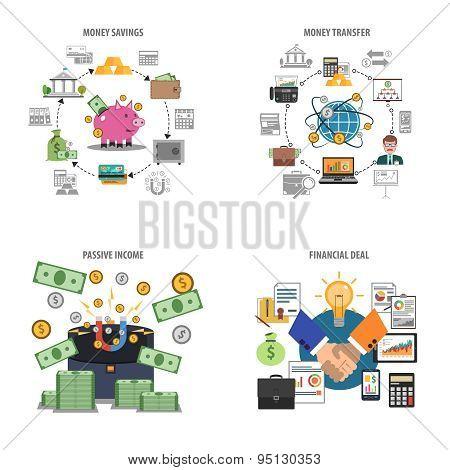 Finance Decorative Icons Set