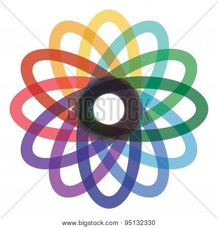 Color Oval Element Design