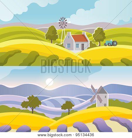Rural Landscape Banner