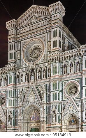 Florence Cathedral In Evening, Italy