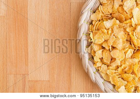 Corn Flakes On Natural Backgound - Studio Shot