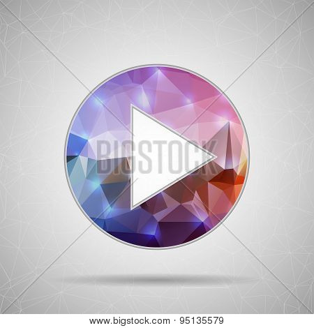 Abstract Creative concept vector play icon for Web and Mobile Applications isolated on background. V