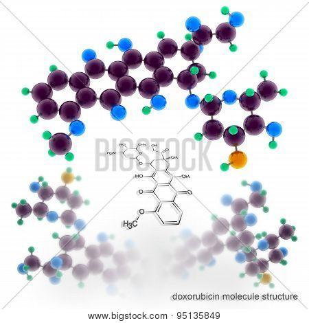 Doxorubicin Molecule Structure
