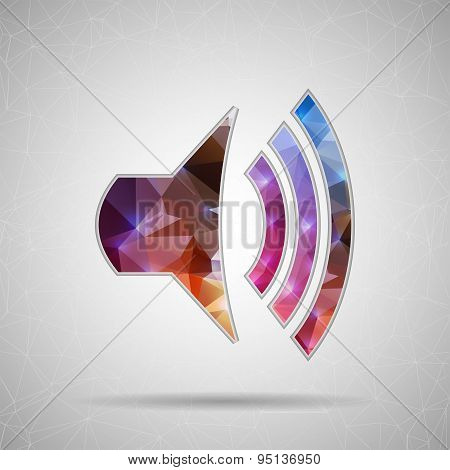 Abstract Creative concept vector icon icon volume for Web and Mobile Applications isolated on backgr