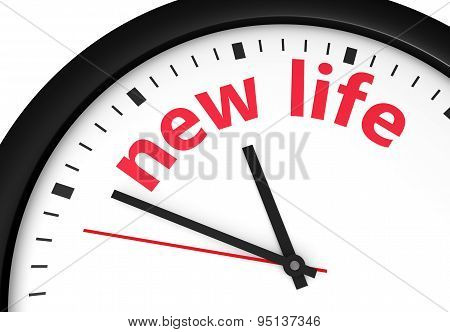 New Life Starting Time Clock Concept