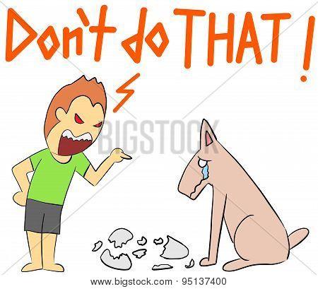 cartoon illustration rage yelling do not