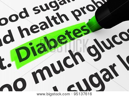 Diabetes Sign Concept