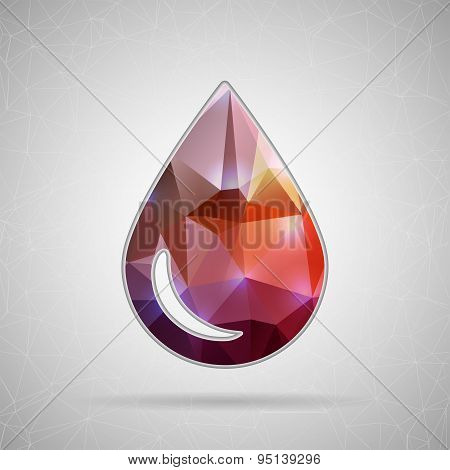Creative concept vector icon of water drop for Web and Mobile Applications isolated on background. V