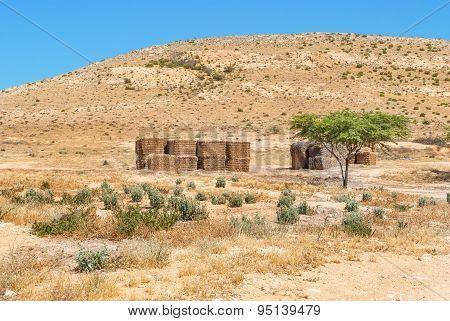 Desert Landscape In Israel's Negev Desert.