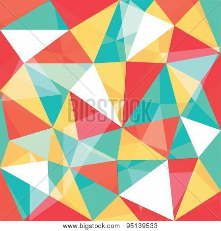 Mixed Color Low Polygon Overlay Pattern