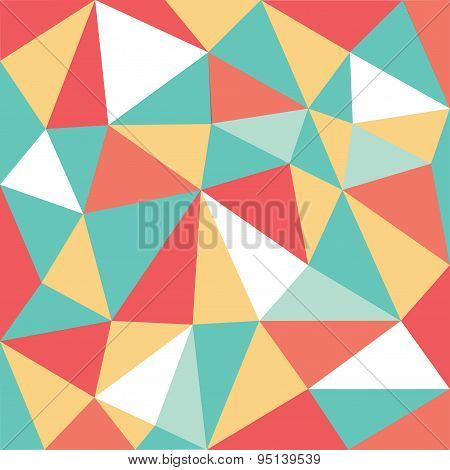 Mixed Color Low Polygon Pattern
