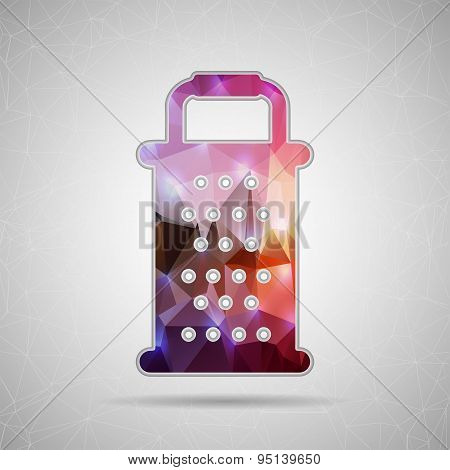 Abstract Creative concept vector icon of grater for Web and Mobile Applications isolated on backgrou