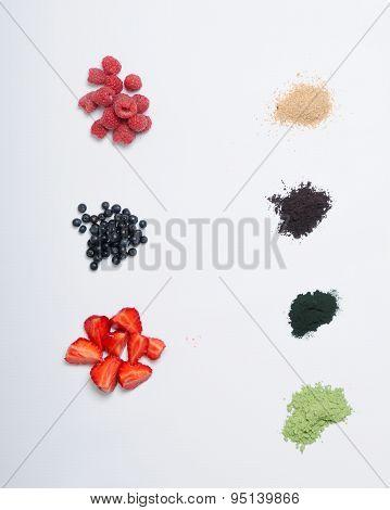 Set Of Organic Ingredients For Acai Smoothie