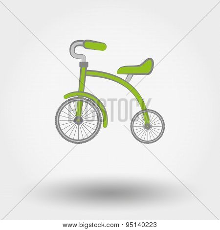 Kids Tricycle flat icon.