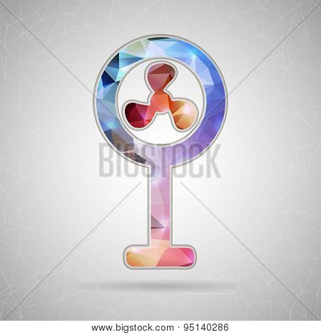 Abstract Creative concept vector icon of ventilator for Web and Mobile Applications isolated on back