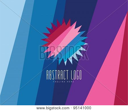 Sun, summer and holiday. Abstract vector logo elements. Stock illustration for design