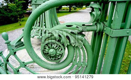 Wrought Iron Railing Detail