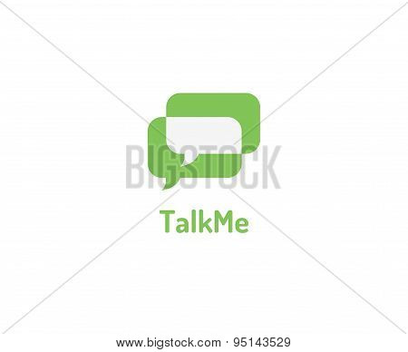 Abstract vector Message, forum, chat and typing logo element. Stock illustrations for design