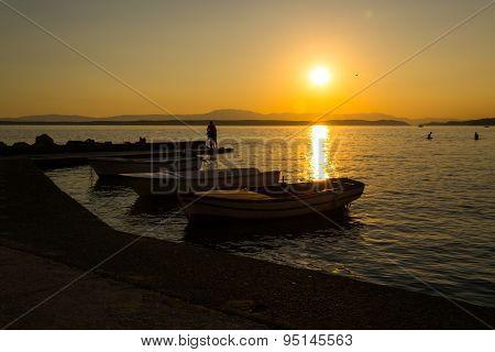 Sunset over Port
