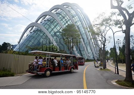 People Visit Garden By The Bay