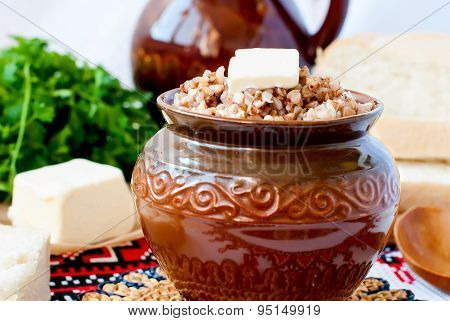 Buckwheat Porridge With Butter