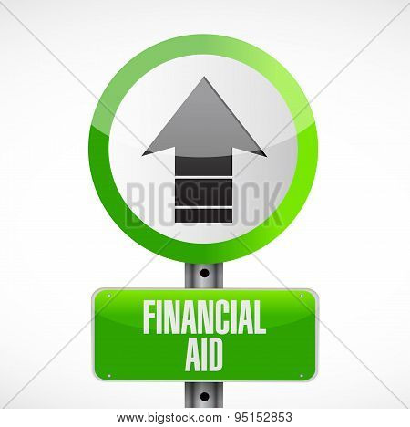 Financial Aid Road Sign Concept Illustration