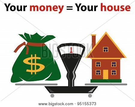 Weigher - House And Bag Of Money