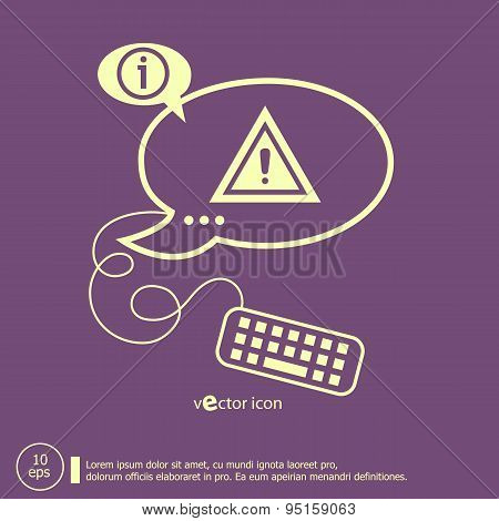 Attention Caution And Keyboard Design Elements