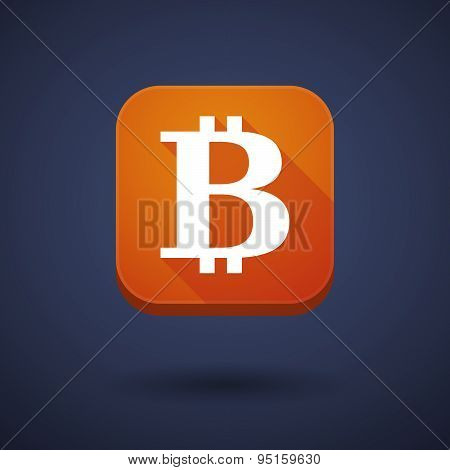 App Button With A Bit Coin Sign