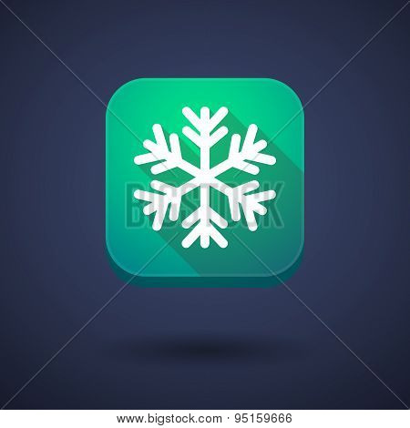 App Button With A Snow Flake