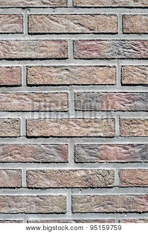 Colorful Concrete Blocks Imitating Bricks On Wall