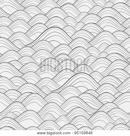 Vector Seamless Pattern. Modern Stylish Texture. Repeating Geometric Background With Linear Triangle
