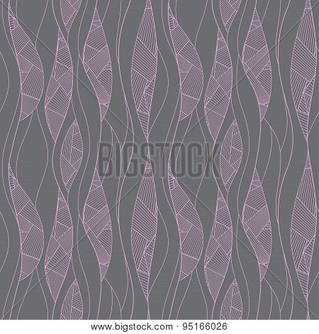 Seamless pattern. Texture of pastel wavy diagonal stripes. Stylish abstract background