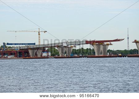 Construction Western High Speed Diameter In St.petersburg