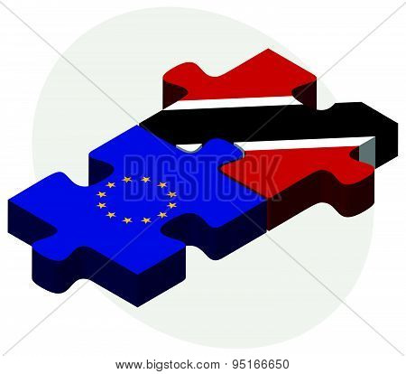 European Union And Trinidad And Tobago Flags