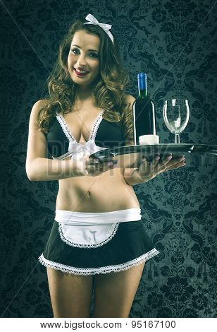 Pretty sexy vintage waitress