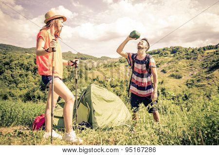 Couple On A Trekking Excursion