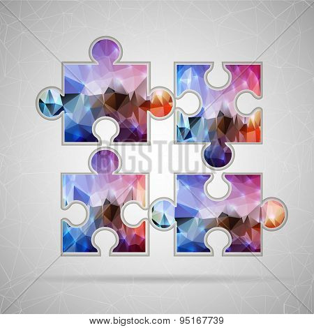 Abstract Creative concept vector icon of puzzle for Web and Mobile Applications isolated on backgrou