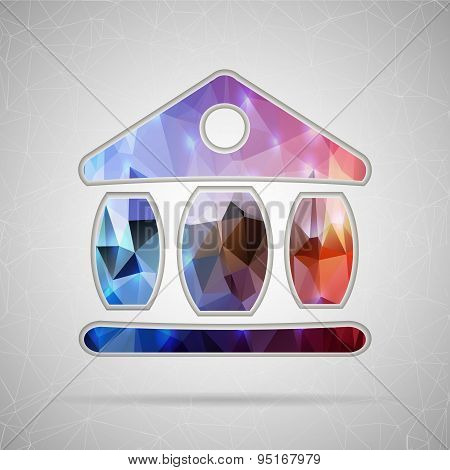 Abstract Creative concept vector icon of the exchange building for Web and Mobile Applications isola