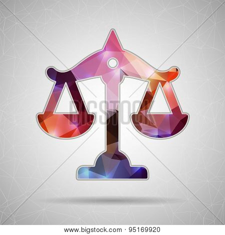 Abstract Creative concept vector icon of scales for Web and Mobile Applications isolated on backgrou