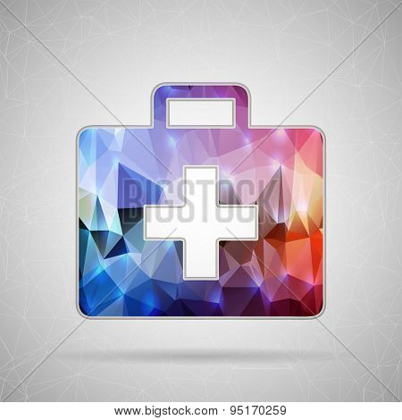Abstract Creative concept vector icon of first aid for Web and Mobile Applications isolated on backg
