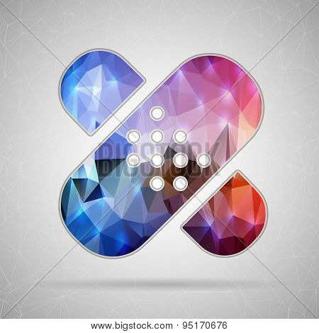 Abstract Creative concept vector icon of bandaid for Web and Mobile Applications isolated on backgro
