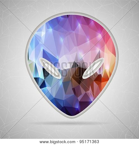 Abstract Creative concept vector icon of alien for Web and Mobile Applications isolated on backgroun