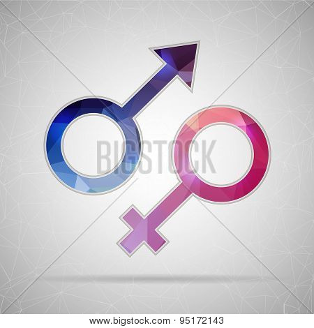 Abstract Creative concept vector icon of gender for Web and Mobile Applications isolated on backgrou