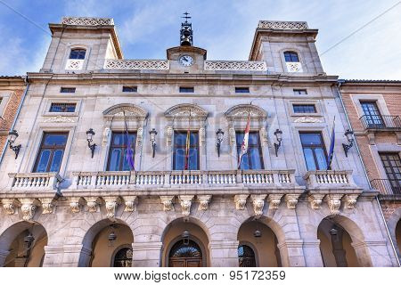Town Hall City Government Plaza Mayor Avila Castile Spain