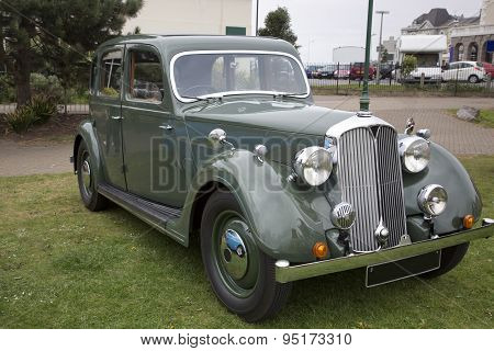 Old Green British Vintage Car
