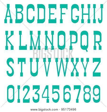 Serif font green